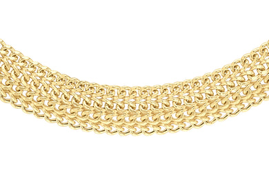 9ct Yellow Gold Diamond Cut Domed Curb Chain 18