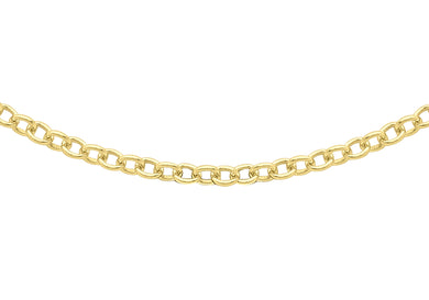 9ct Yellow Gold 40pg Trace Chain