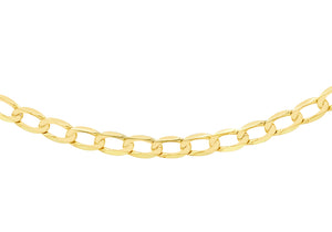 9ct Yellow Gold 60pg Diamond Cut Flat Curb Chain