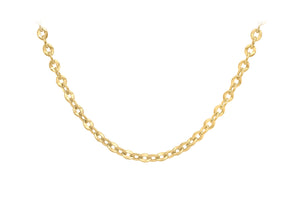 9ct Yellow Gold 100pg Diamond Cut Trace Chain