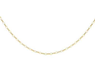 9ct Yellow Gold Oval Belcher Chain 41Cm/16