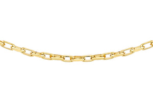 9ct Yellow Gold 40pg Diamond Cut Belcher Chain