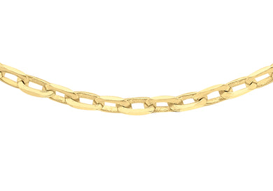9ct Yellow Gold 60pg Diamond Cut Belcher Chain 46Cm/18