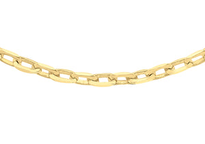 9ct Yellow Gold 60pg Diamond Cut Belcher Chain 46Cm/18""