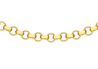 9ct Yellow Gold 100pg Round Belcher Chain