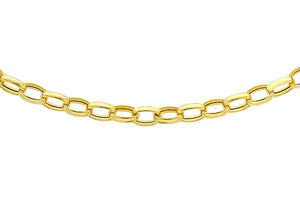 9ct Yellow Gold 100pg Oval Belcher Chain