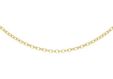 9ct Yellow Gold 50pg Diamond Cut Belcher Chain 61Cm/24