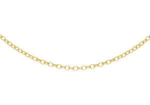 9ct Yellow Gold 50pg Diamond Cut Belcher Chain 61Cm/24""