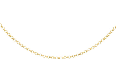 9ct Yellow Gold 45pg Round Belcher Chain