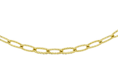 9ct Yellow Gold Twist Patterned Oval Belcher Chain
