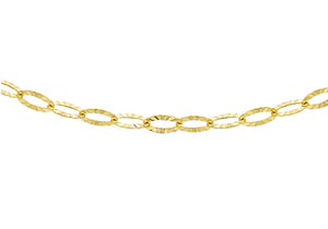 9ct Yellow Gold Diamond Cut Link Chain 46Cm/18""