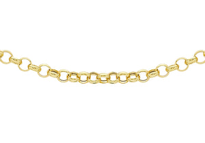 9ct Yellow Gold 80pg Round Belcher Chain 46Cm/18""