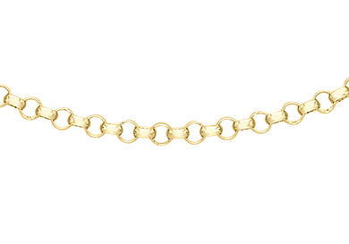 9ct Yellow Gold 068pg Round Belcher Chain 41Cm/16