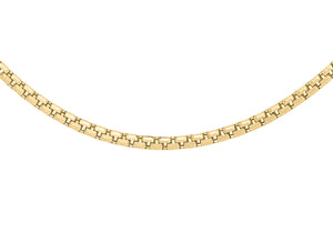 9ct Yellow Gold 36pg Diamond Cut Box Belcher Chain