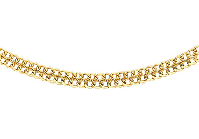 9ct Yellow Gold 40pg Figure 8 Curb Chain 46Cm/18
