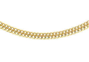 9ct Yellow Gold 40pg Figure 8 Curb Chain 46Cm/18""