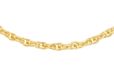 9ct Yellow Gold 14pg Prince Of Wales Chain