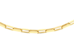 9ct Yellow Gold 60pg Square Paper Chain Link Necklace
