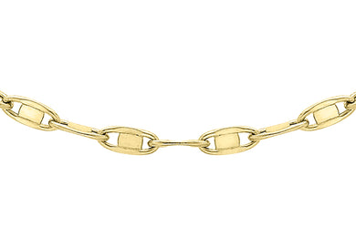 9ct Yellow Gold Flat Oval Link Chain