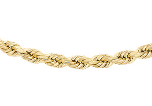 9ct Yellow Gold 60pg Diamond Cut Rope Chain