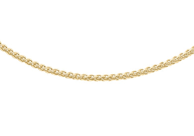 9ct Yellow Gold 30pg Spiga Chain 41Cm/16