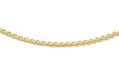 9ct Yellow Gold 030pg Spiga Chain 18