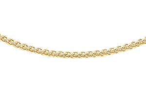 9ct Yellow Gold 030pg Spiga Chain 18""