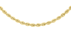 9ct Yellow Gold 40pg Rope Chain