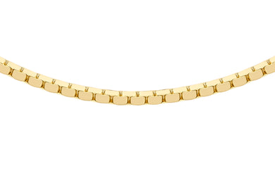 9ct Yellow Gold 40pg Mirror Box Chain