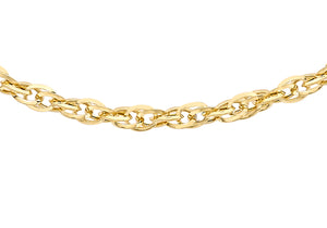 9ct Yellow Gold 40pg Diamond Cut Prince Of Wales Chain