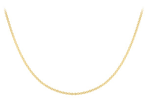 9ct Yellow Gold Flat Rambo Chain