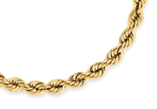 9ct Yellow Gold 80pg Rope Chain Bracelet 18cm/7""