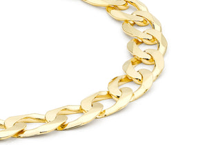 9ct Yellow Gold Flat Curb Bracelet 20cm/8""