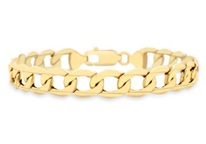 9ct Yellow Gold Hollow Curb Bracelet 20cm/8""