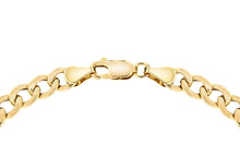 9ct Yellow Gold Hollow Oval Curb Bracelet 8""