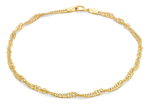 9ct Gold 45pg Twist Curb Bracelet 19cm/7.5""
