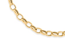 9ct Yellow Gold Hollow Oval Belcher Bracelet 18cm/7""