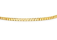 9ct Yellow Gold Hollow Box Bracelet 19cm/7.5""
