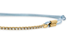 9ct Yellow Gold CZ Cord Adjustable ID Bracelet