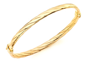9ct Yellow Gold Twist Detail Bangle