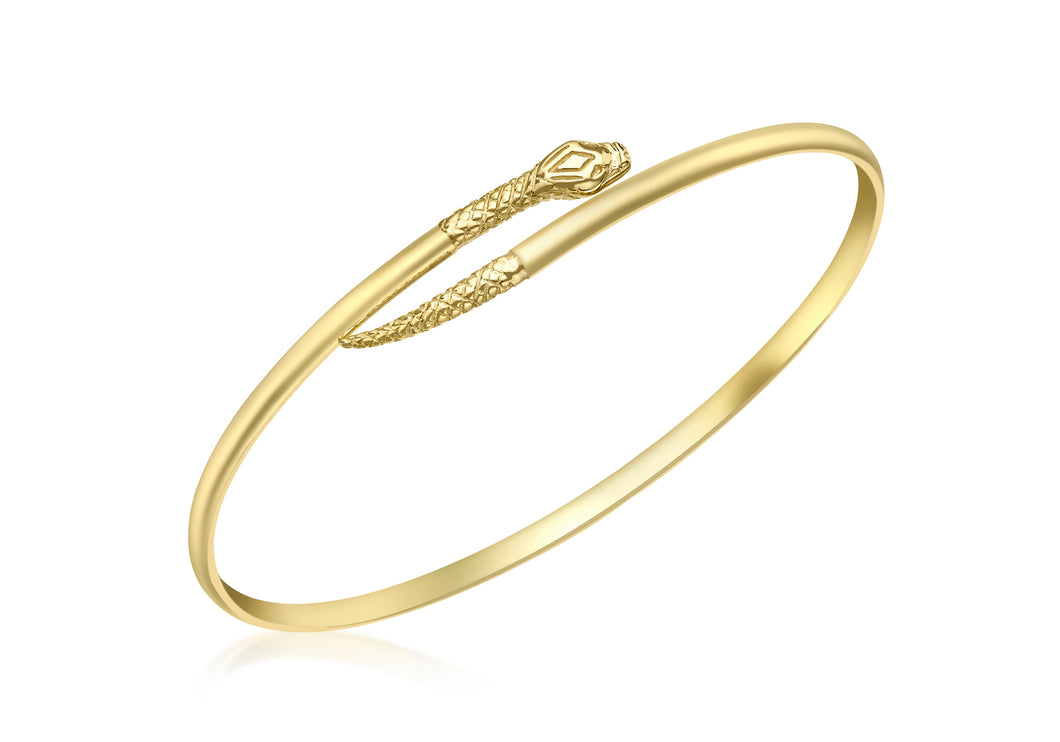 9ct Yellow Gold Snake Torque Bangle