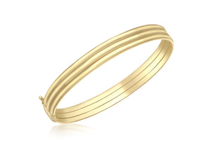9ct Yellow Gold Triple Tube Bangle