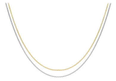 9ct Yellow and White Gold  Strand Chain 46cm/18