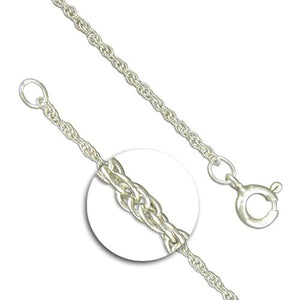 Sterling Silver Light Prince Of Wales Rope Chain