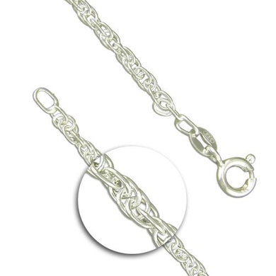 Sterling Silver Medium Prince Of Wales Rope Chain