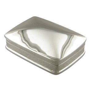 Sterling Silver Large Plain Oblong Pill Box Gifts