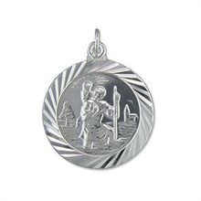 Sterling Silver Double-Sided Modern Travel Design ST Christopher