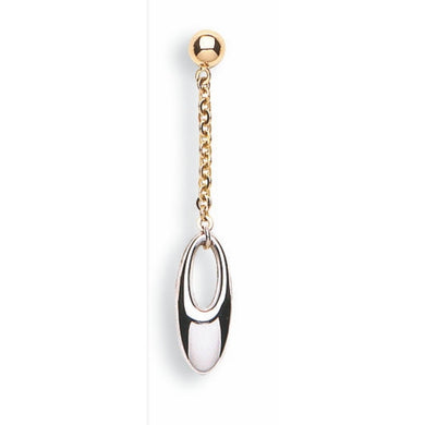 9ct White & Yellow Gold Fancy Drop - Queen of Silver
