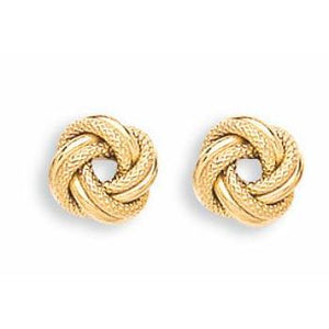9ct Yellow Gold Knot Stud Earrings - Queen of Silver