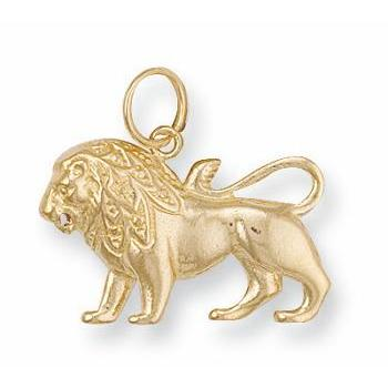 9ct Yellow Gold Leo Zodiac Pendant - Queen of Silver